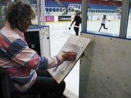 Charles working at Dundee Ice Arena