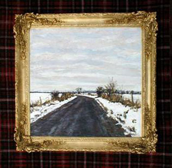 "'The Road from Murrayshall' by Charles Harris. This painting was chosen by Rob Ingram, Managing Director of Advanstar (the Event organisers of Artexpo New York USA). ""The more you look, the more you see."""