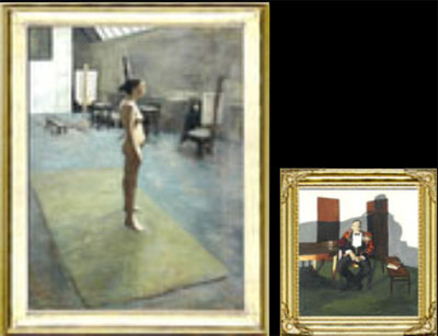 These two pictures are 7feet 6 inches x 6 feet and 3 feet x 3 feet. Both of these works were exhibited in successive Royal Academy Summer Exhibitions