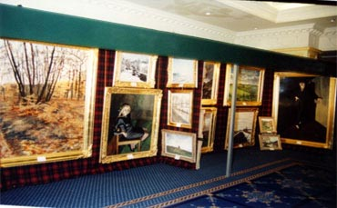 Charles' Exhibition of pictures on display in Dublin, Republic of Ireland.