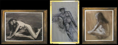 Further examples of the type of Figure Drawing which Charles was completing during this period.