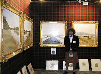 Charles' Exhibition at Artexpo in New York. This was one of several major consecutive shows which Charles staged at the Jacob Javetts Centre in New York.