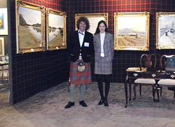 Charles Harris and his Exhibition Co-ordinator Victoria Harding at one of the Exhibitions in NewYork.