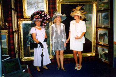 It was' Ladies Day' in Dublin, with a few of the many exotic hats seen at Charles' Exhibition.