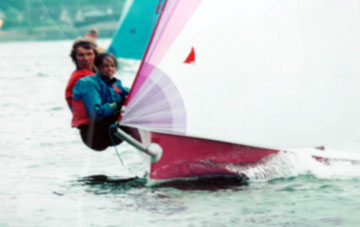 Charles and Victoria winning at Largs.